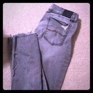 Lucky Brand Gray Skinny Jeans